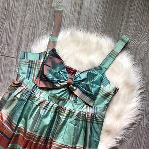 Ted Baker Plaid Bow Dress